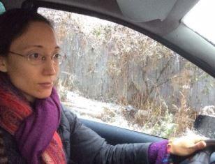 Smaller Sharon Markey driving