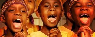 smaller African childrens choir members portrait