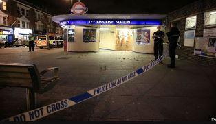 smaller Police cordon off Leytonstone station