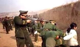 An execution in North Korea