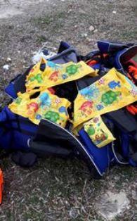 Fake life jackets Adrian Hawkes