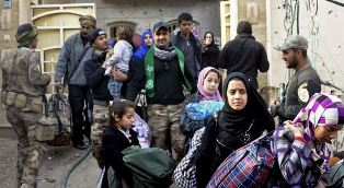 Families in Ramadi seek help