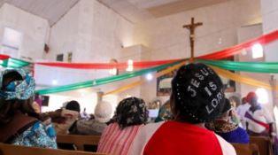 Nigerian Christians in church