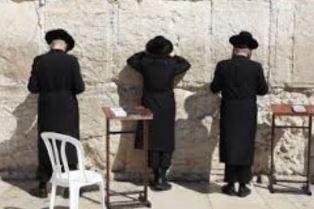 Orthodox Jews at Western Wall