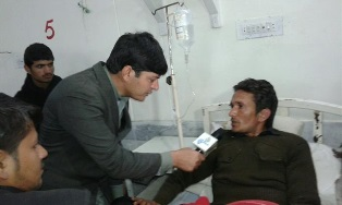 Pakistan student being interview for TV