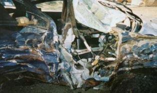 Rathhones car after crash