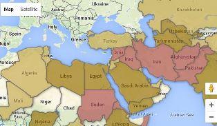 World Watch List map