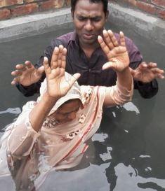 Baptism at Nepal church