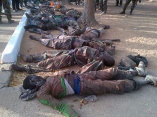 Bodies in the street after Boko Haram attack