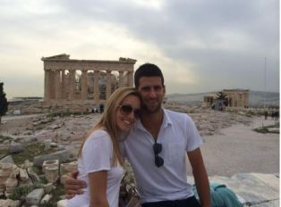Dockvich with his wife in Greece