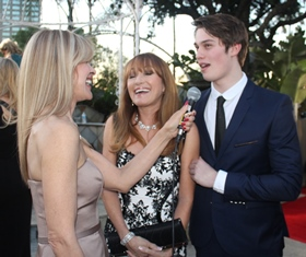 Jane and Nicholas being interviewed on the Red Carpet