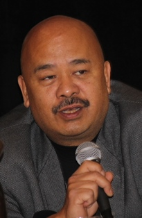 John Pudaite at press conference