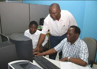 African Bible translators at work