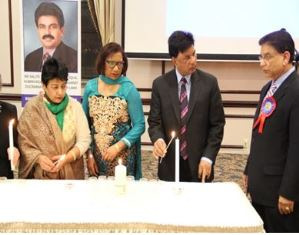 Candle lighting by Bhatti family