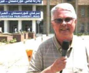 Dan Wooding outside Kurdistan Parliament in Erbil Northern Iraq