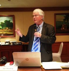 Dan Wooding speaking at AM4 Peace Conference in Jakarta