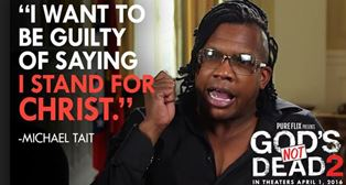 Michael Tait of the Newsboys who sang the title song in Gods Not Dead 2