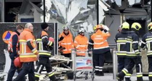 Scene after Brussels attack