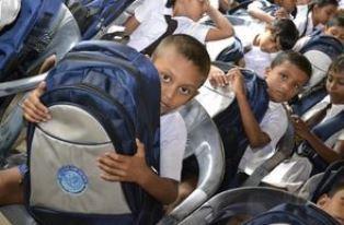 smaller Children getting ready for school GFA