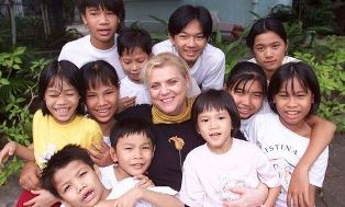 Christian Noble with her street kids