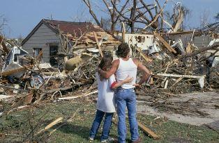 Damage caused by a tornado
