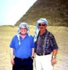 Dan Wooding and Norm Nelson at the pyramids