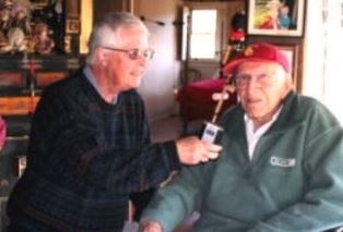 Dan Wooding interviewing Louis Zamperini