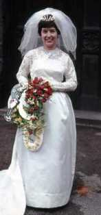 Norma on her wedding day