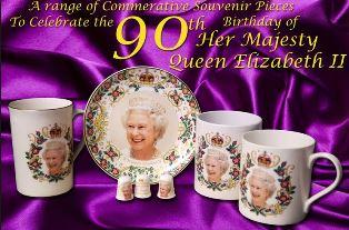 Queens 90th birthday souvenirs