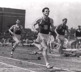 Zamperini winning of of his many races