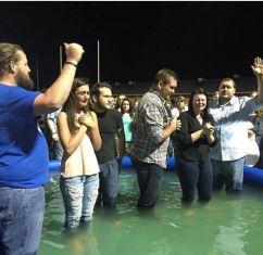Baptism at West Virginia church
