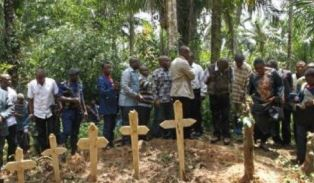 Christians attend burial ceremony