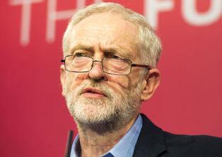Smaller Labour leader Jeremy Corbyn