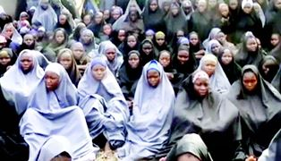 Some of the missing Chibok school girls