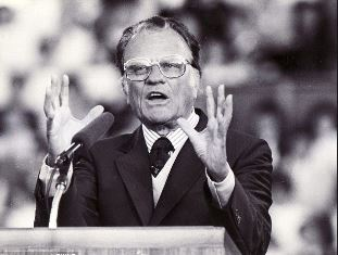 Billy Graham preaching in the UK