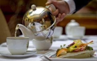 Drinking tea in Kazakhstan
