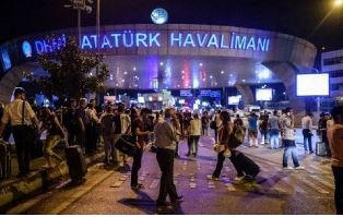 Scene outside Istanbul airport