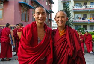 Two Tibetan Buddhist monks