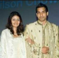 Wilson Chowdhry with wife