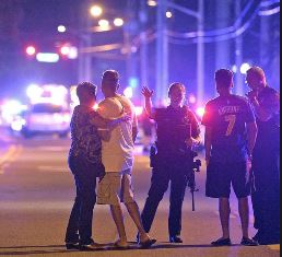 smaller Orlando police help people after shooting