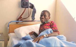 smaller South African being treated in hospital