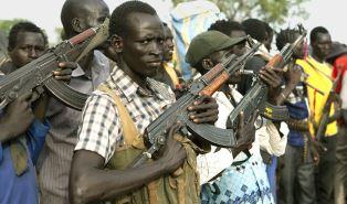 Civil war fighters in South Sudan