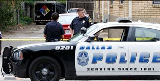 Dallas Police officers during the shootout