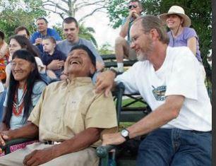 Steve Saint with Indians