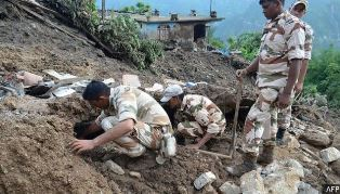 Troops searching for bodies in South Asian floods