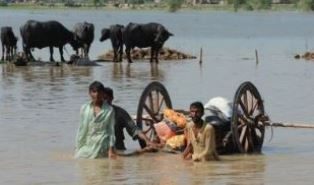Villagers in the South Asian floods