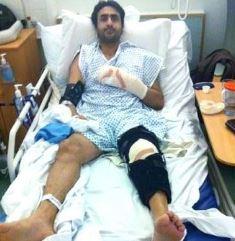 Bradford man in hospital