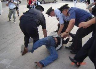 Christian being arrested in Kazakhstan