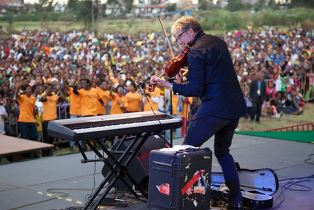 Don Moen performing on previous trip to Africa