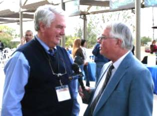 Don Stephens being interview by Dan Wooding